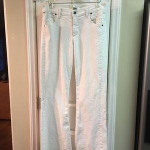 Citizens of Humanity White Hutton Jeans